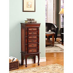 Shop Mandalay Cherry 6 Drawer Jewelry Armoire Free