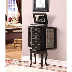Morrisa Black 6-drawer Jewelry Armoire - Thumbnail 1