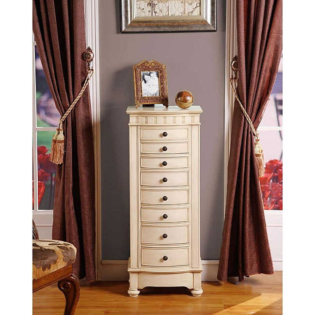 Shop Muscatto Antique Beige 8 Drawer Charging Jewelry
