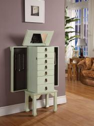 Ningbo Rustic Green 6-drawer Jewelry Armoire