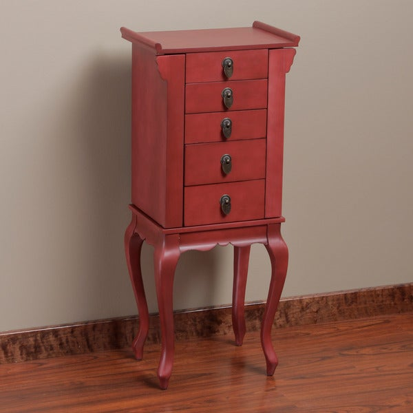 Ningbo 4-drawer Red Jewelry Armoire
