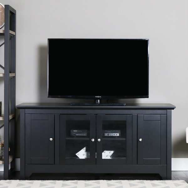 Black Wood 52-inch TV Stand