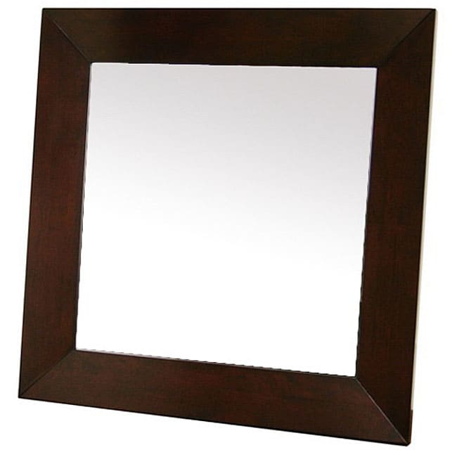 Doniea Dark Brown Wood-framed 31.5-inch Square Mirror
