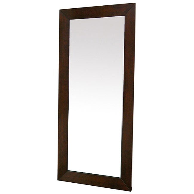 Doniea Dark Brown Wood-framed Rectangular Mirror