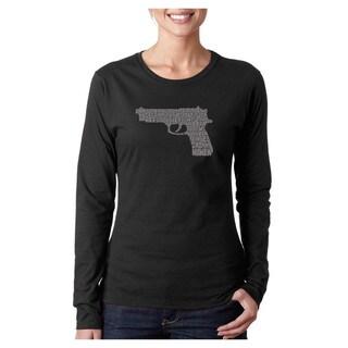 Los Angeles Pop Art Women's Gun Long-sleeved Top