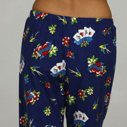 Leisureland Women's Tattoo Print Lounge Pants