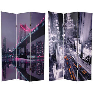 Handmade 6' Canvas New York State of Mind Room Divider