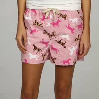Leisureland Women's Horse Print Boxer Shorts|https://ak1.ostkcdn.com/images/products/5549115/P13323451.jpg?impolicy=medium