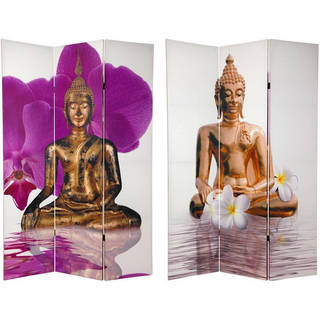 Handmade 6' Canvas Thai Buddha Room Divider