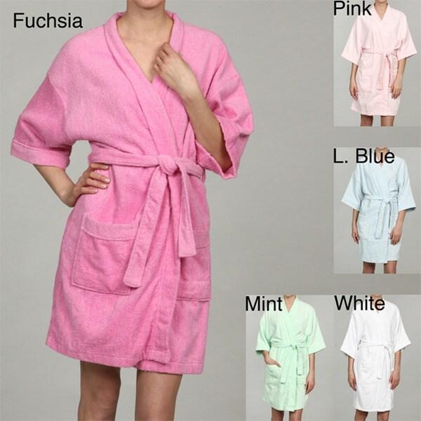Shop Leisureland Women's Cotton Kimono Bathrobe