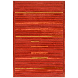 Hand-Tufted Lineage Orange Wool Rug (5' x 8')