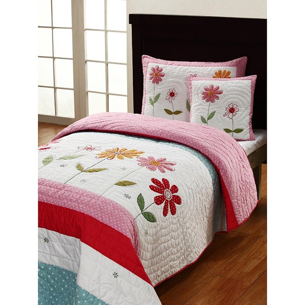 Gwen 3-piece Twin-size Quilt Set - Free Shipping Today - Overstock ...