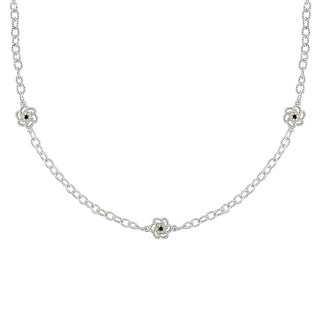 Miadora Sterling Silver 1/2ct TDW Black and Diamond Necklace (G-H, I2-I3)