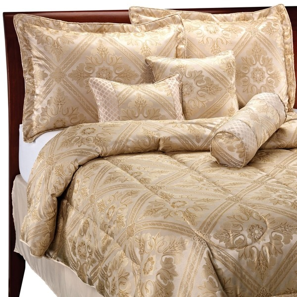 Gold Plate Beige/ Champagne 7-piece Comforter Set