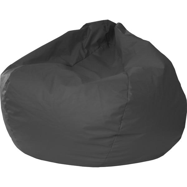 Gold Medal Jumbo Leather-like Vinyl Round Bean Bag Chair