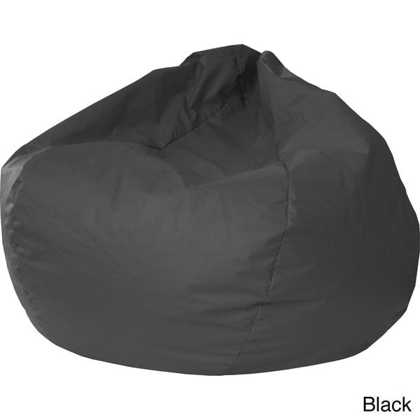 Gold Medal Jumbo Leather like Vinyl Round Bean Bag Chair