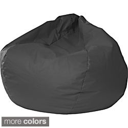 Gold Medal Jumbo Leather-like Vinyl Round Bean Bag Chair