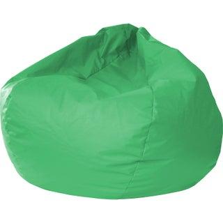 Gold Medal Jumbo Leather-like Vinyl Round Bean Bag Chair (Option: Green)