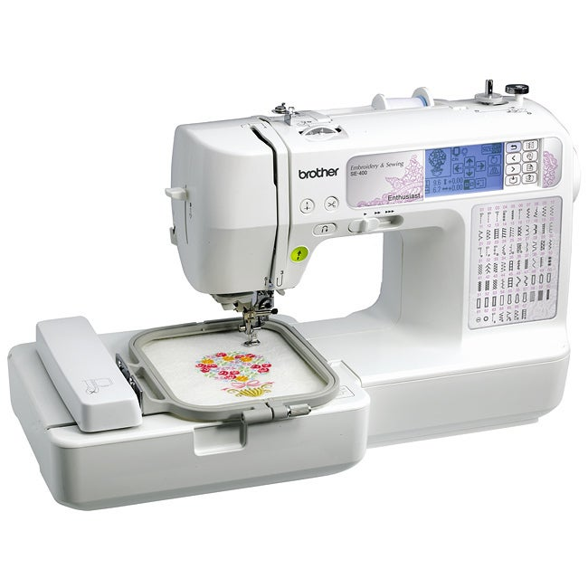 Brother SE400 Computerized Sewing and Embroidery Machine ...