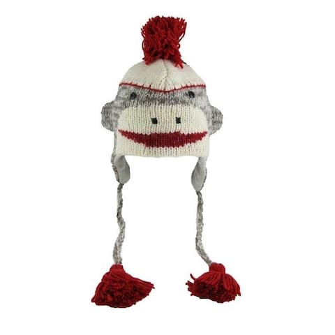 Knitwits Adult Sock Monkey Wool Hat