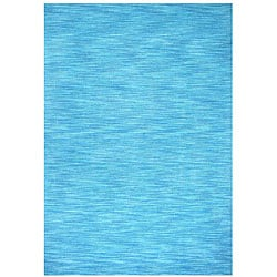 Hand-tufted Blue Fusion Wool Rug (8' x 10')