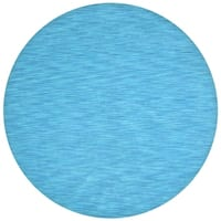 Hand-tufted Fusion Blue Wool Rug (8' Round) - 8' x 8'