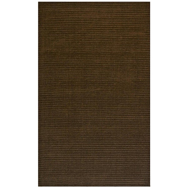 Hand-Tufted Brown Wool Pulse Rug - 5' x 8'