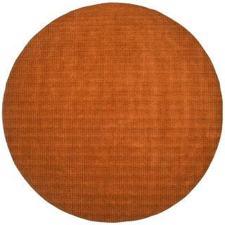 Hand-tufted Pulse Orange Wool Rug (8' Round)