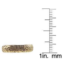 Goldfill Etched Flower Toe Ring - Thumbnail 2
