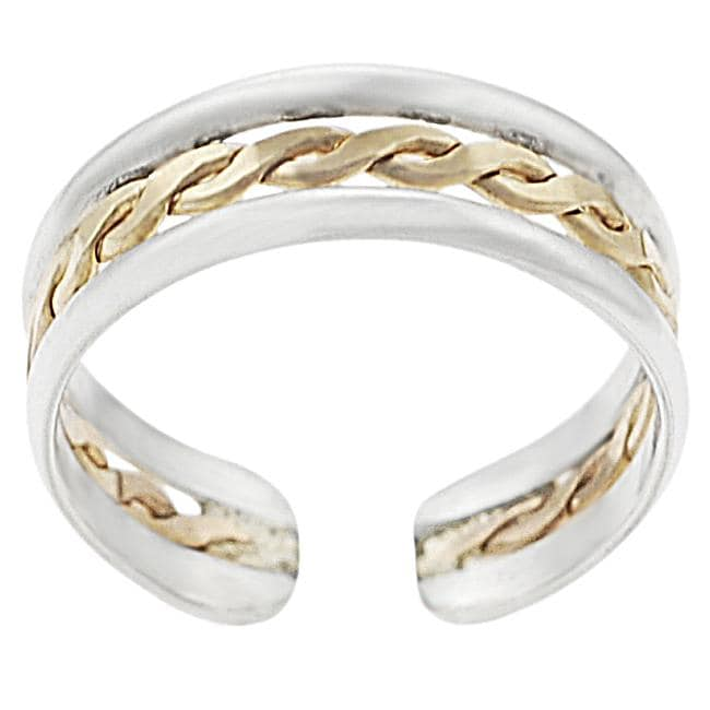 Goldfill Sterling Silver Braided Adjustable Toe Ring