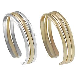Journee Gold-fill Sterling Silver Two-piece Toe Ring Set