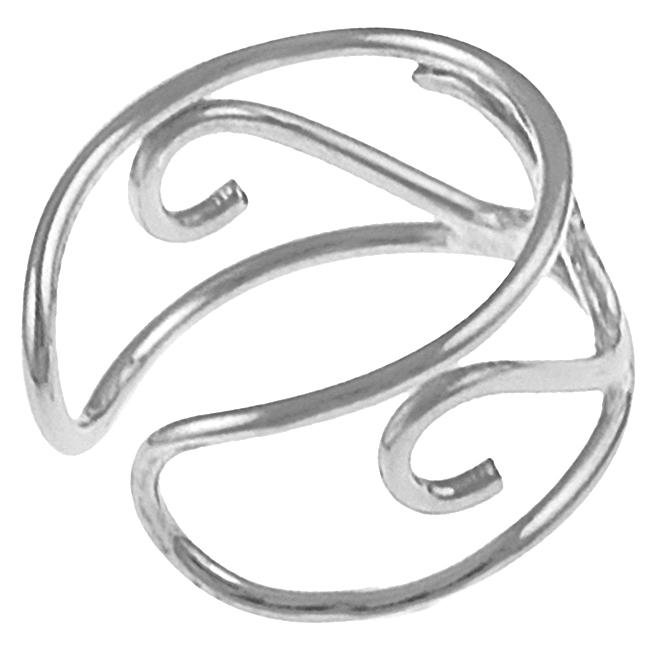 Journee Collection  Sterling Silver 'S' Shape Ear Cuff