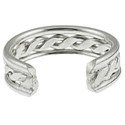 Journee Collection  Sterling Silver Twisted Ear Cuff - Thumbnail 1