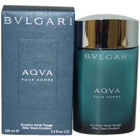 Bvlgari Aqua Men's 3.4-ounce Aftershave Emulsion
