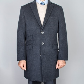 Men's Charcoal WoolCarcoat