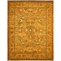 Safavieh Handmade Antiquities Kasadan Olive Green/ Gold Wool Rug - 12' x 18'