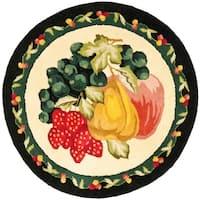 Safavieh Handmade Novelty Fruit Multi Wool Rug - 4' x 4' Round