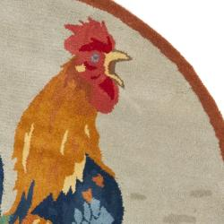 Safavieh Handmade Novelty Rooster Multi Wool Rug (4' Round)