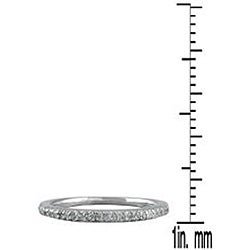 Marquee Jewels 10k White Gold 1/4ct TDW Diamond Ring (H-I, I1-I2) - Thumbnail 2