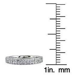 Marquee Jewels 14k White Gold 2/5ct TDW Diamond Ring (H-I, I1-I2) - Thumbnail 2