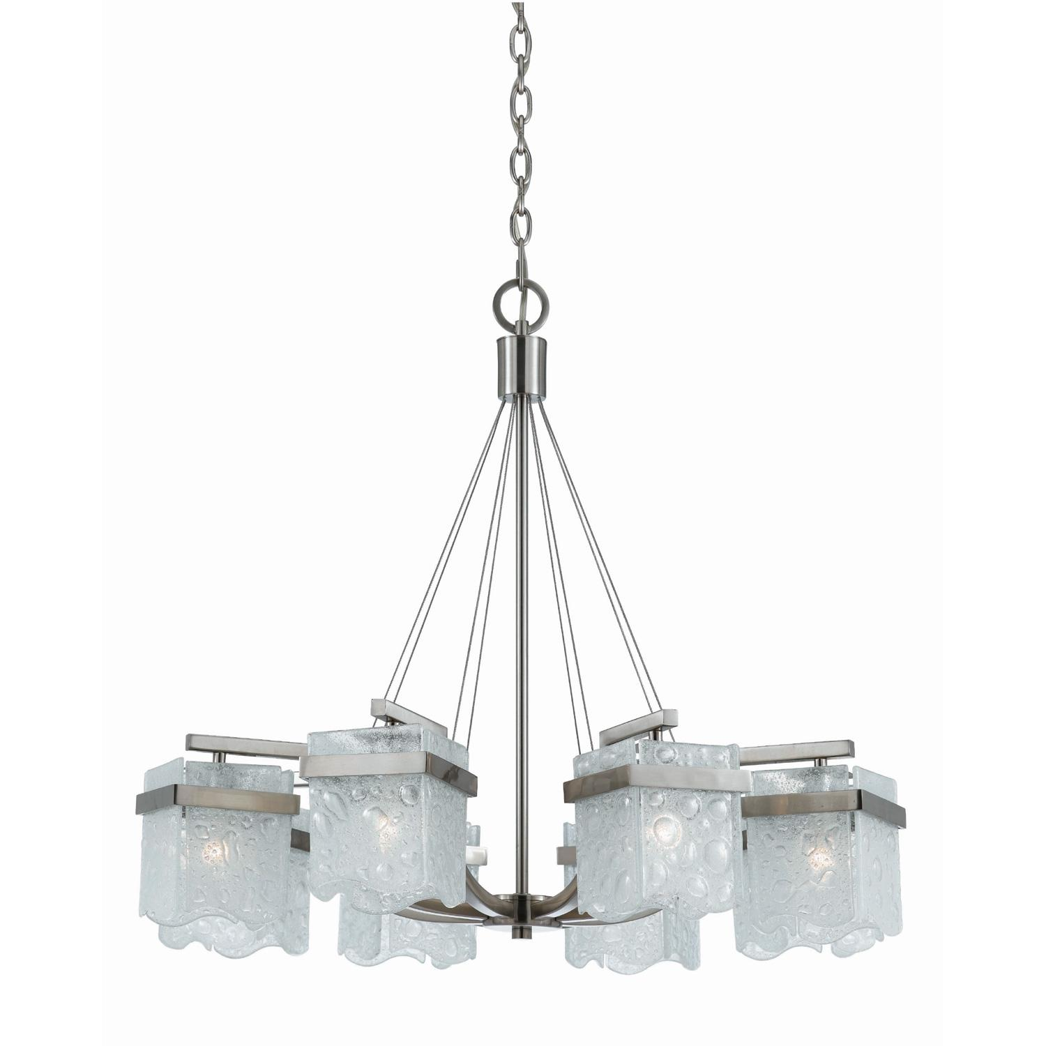 Arctic Ice 8-light Satin Nickel Chandelier