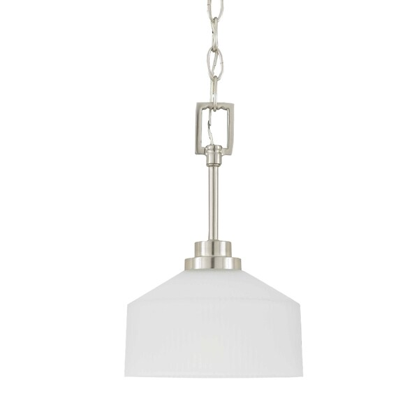 Titan Energy Star 1-light Satin Nickel Mini Pendant Light