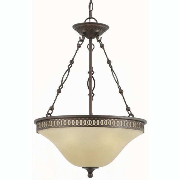 York Energy Star 3-light English Bronze Pendant Light