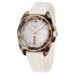 Zodiac Women's 'Racer' Tortoise, Steel and Rubber Quartz Watch