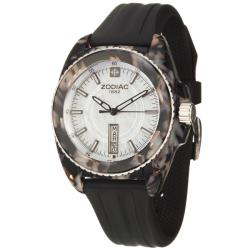 Zodiac Women's 'Racer' Tortoise Steel and Rubber Quartz Watch