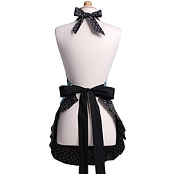 Aqua Damask Women's Original Flirty Apron - Thumbnail 1