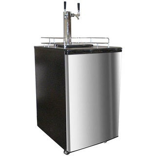 Nostalgia Electrics KRS-6100SS Double Kegorator Twin Tap Beer Keg Fridge