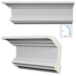 Neoclassical 4.5-inch Crosshead/Cap Molding (8 pack)