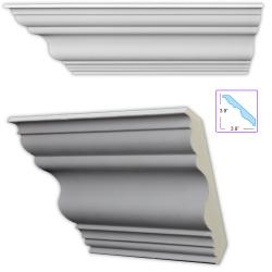 Traditional 5.5-inch Crown Molding (Set of 8)