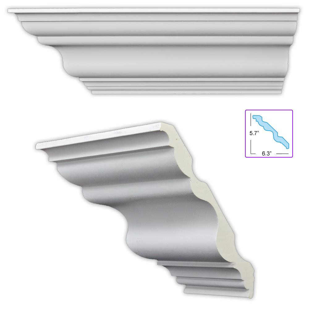 Shop Heritage 8 5-inch Crown Molding (8 pieces) - Free Shipping